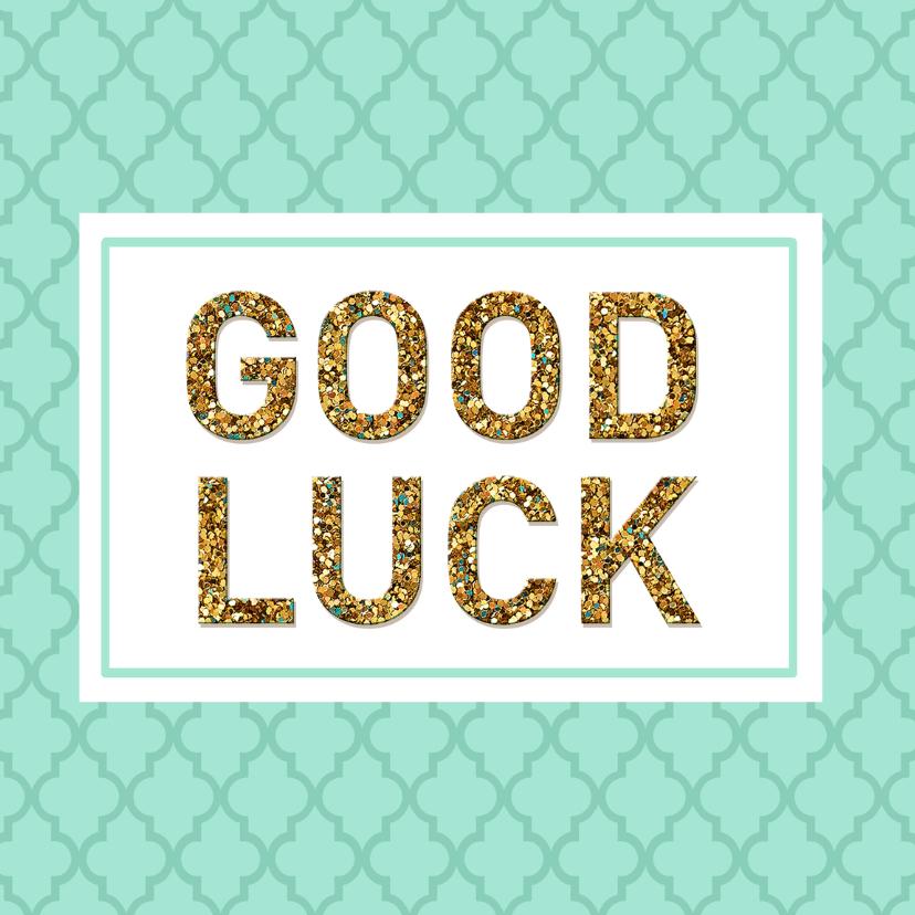 Succes kaarten - Succes Good luck mint