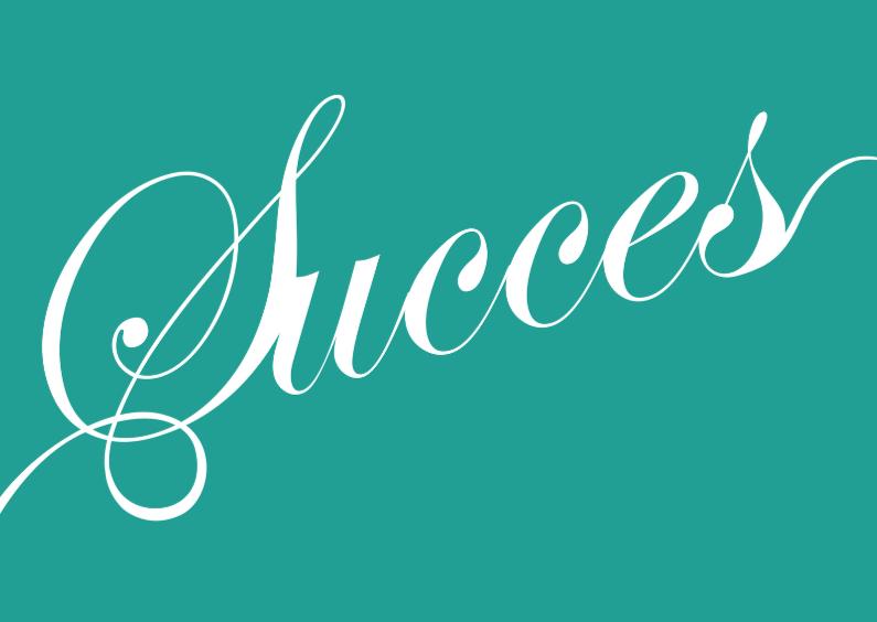 Succes kaarten - Succes kaart tekst groen
