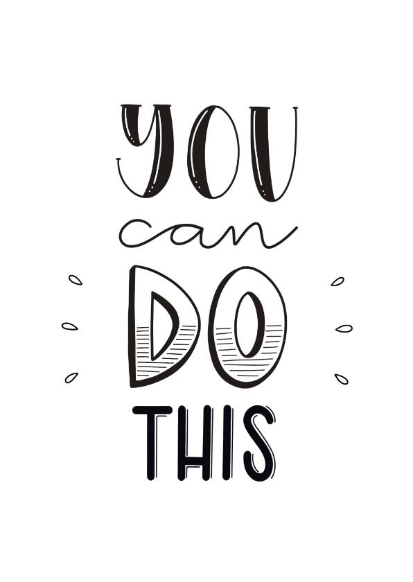 Succes kaarten - Succes kaart - You can do this