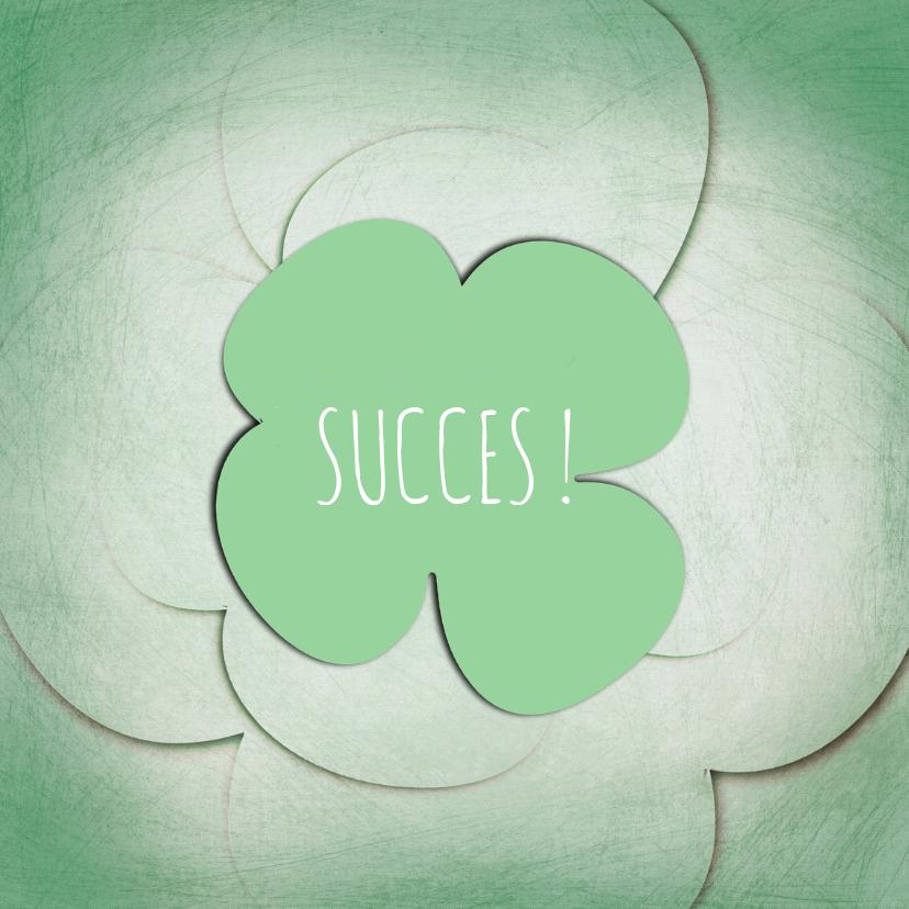 Succes kaarten - Succes klaver groen
