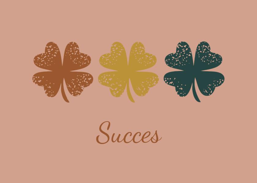 Succes kaarten - Succes klavertjes