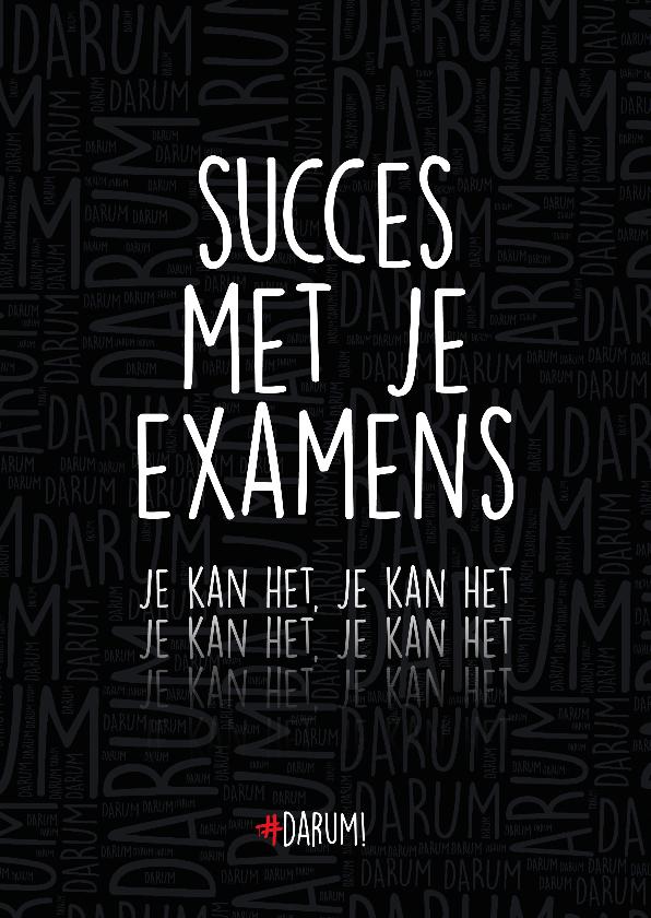 Succes kaarten - Succes met je examens