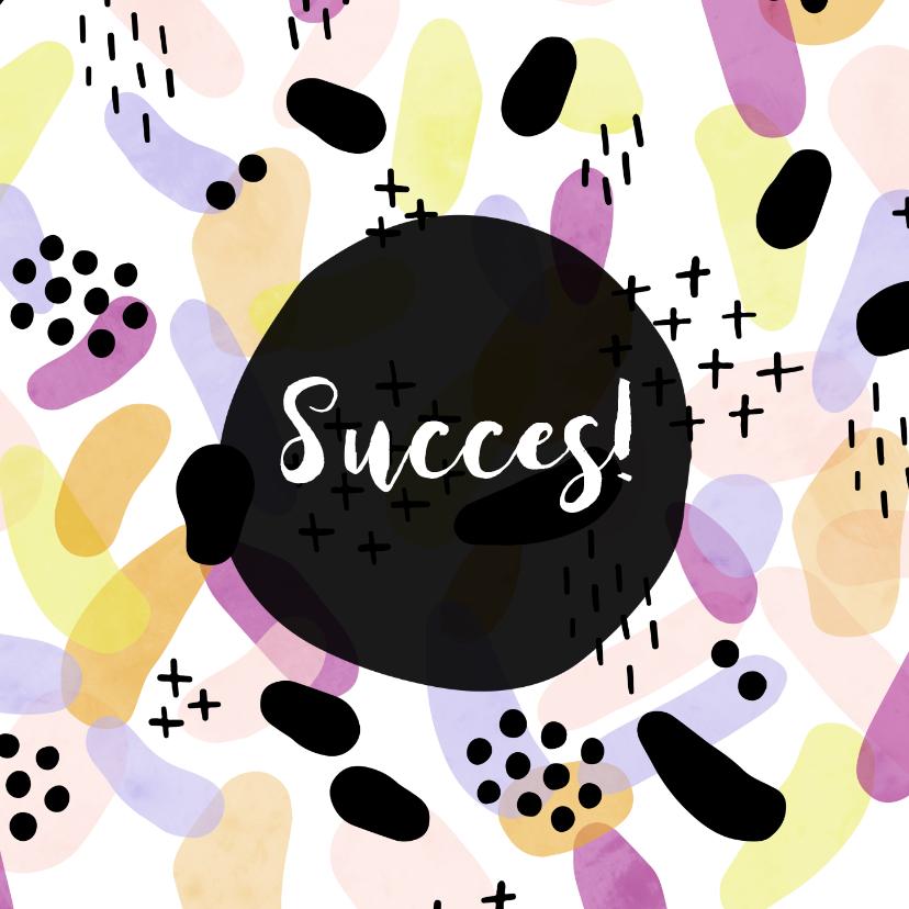 Succes kaarten - Succes met kleurrijk patroon vierkant