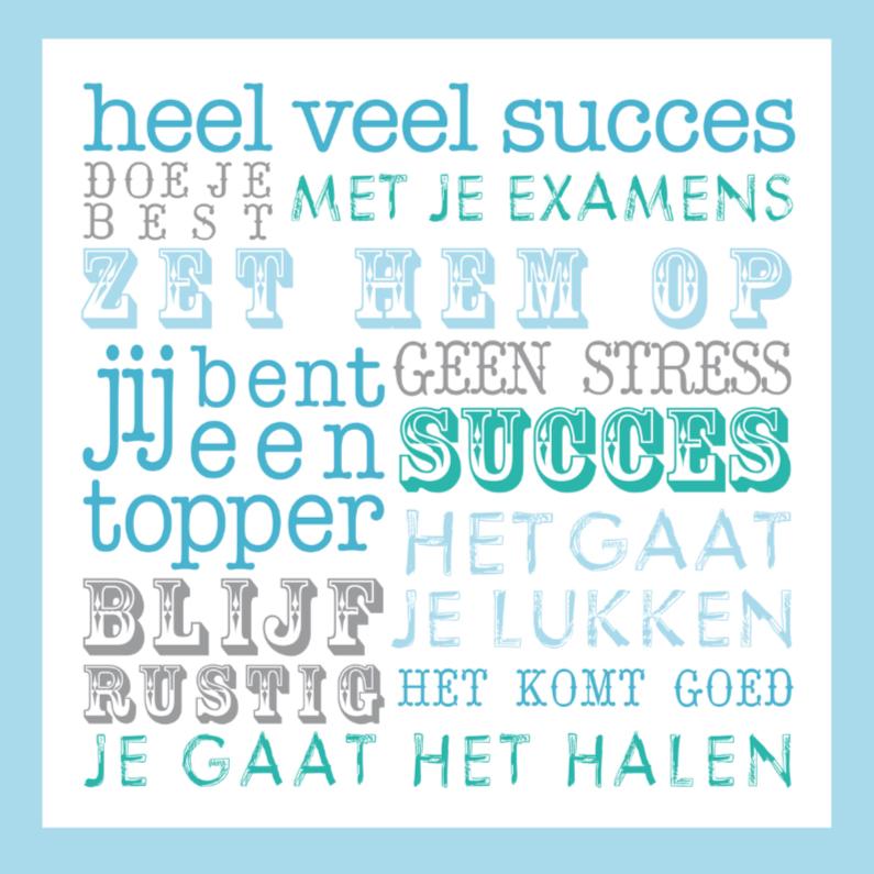 Succes kaarten - Succes Tekst Examen Blauw