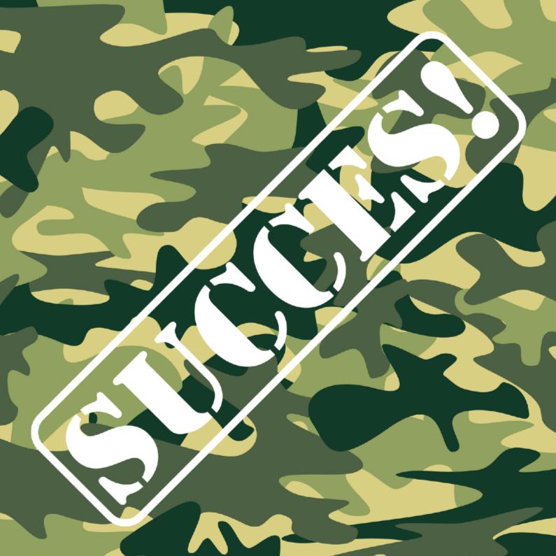 Succes kaarten - Succeskaart leger camouflage