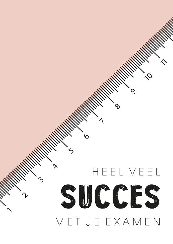 Succes kaarten - Succeskaart voor examen