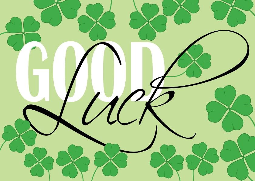 Succes kaarten - Wishing you Good Luck