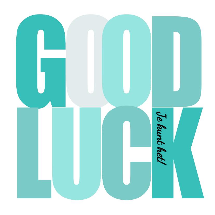 Succes kaarten - Woorden Good Luck Groen - BK