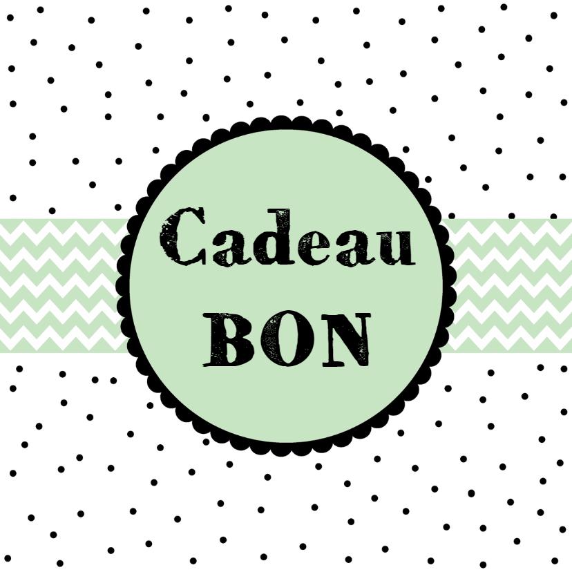 Tegoedbon maken - Cadeaubon mint