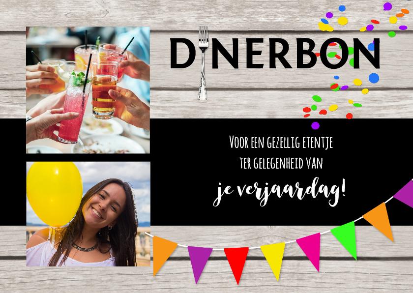 Tegoedbon maken - Dinerbon collage uitnodiging