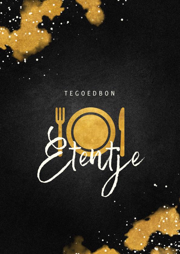 Tegoedbon maken - Tegoedbon etentje met gouden bestek