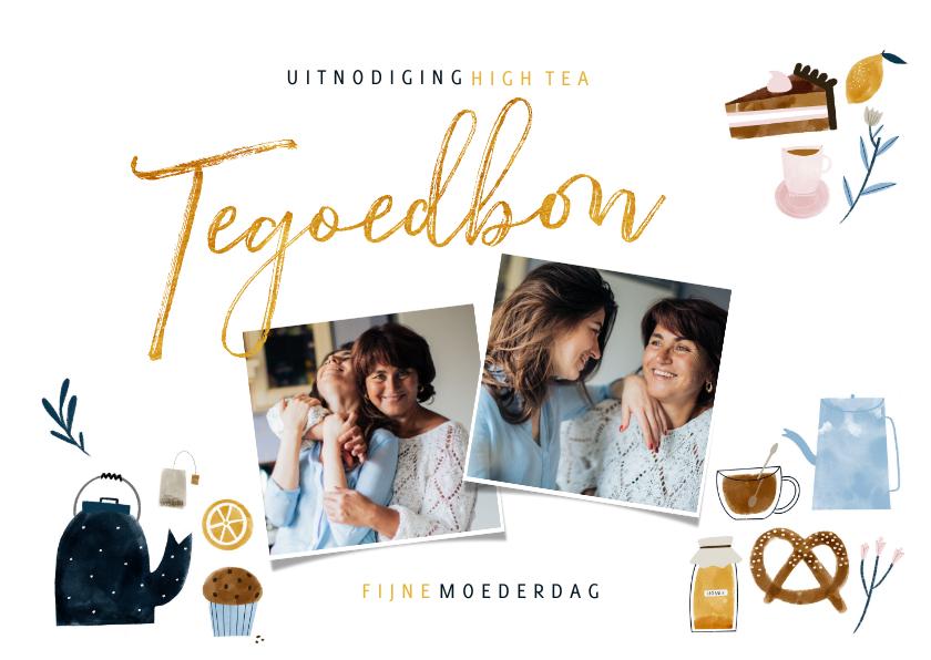 Tegoedbon maken - Tegoedbon High Tea met foto's en illustraties