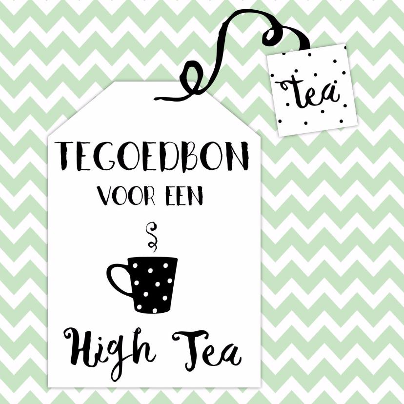 Tegoedbon maken - Tegoedbon High Tea theezakje