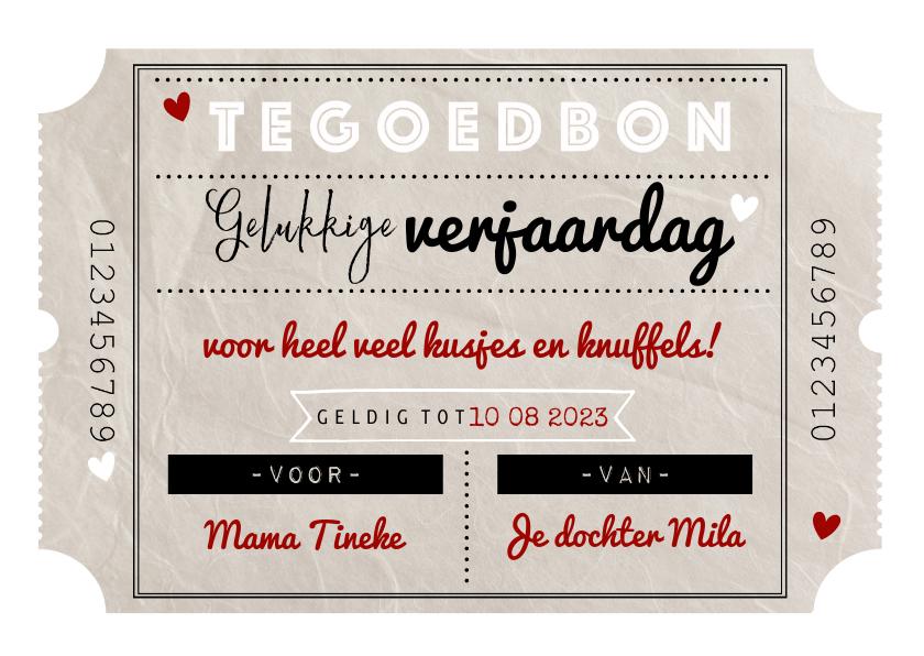 Tegoedbon maken - Tegoedbon maken gelukkige verjaardag vintage bon