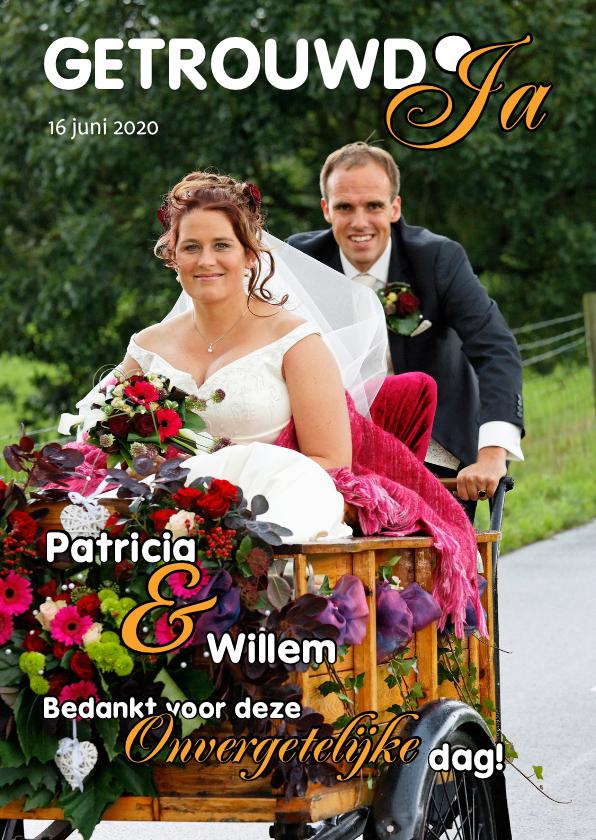 Trouwkaarten - Bedankkaartjes huwelijk Cover Magazine 2 - OT