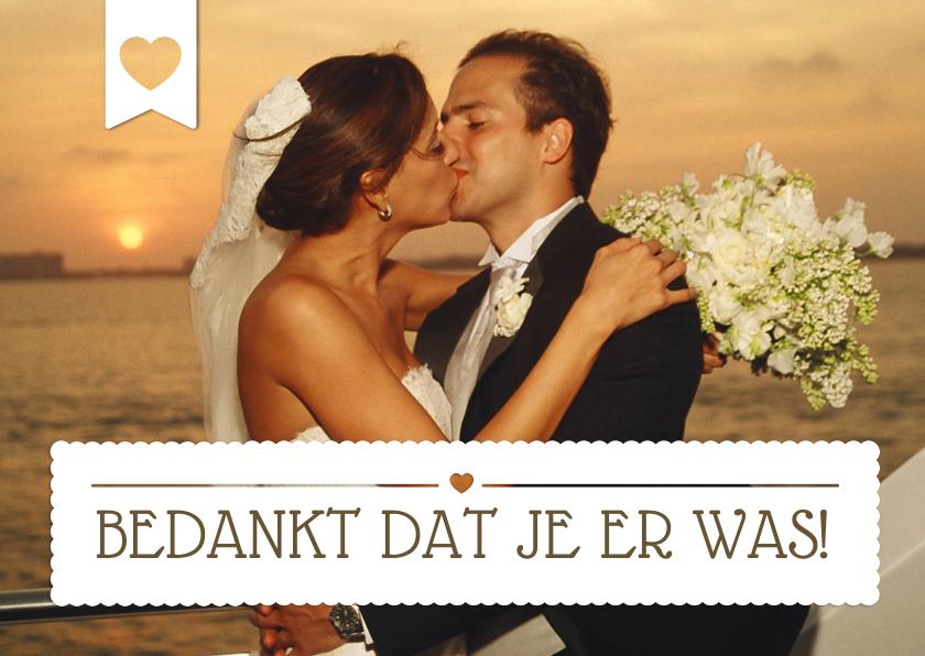 Bedankt Huwelijk Eigen Foto  1