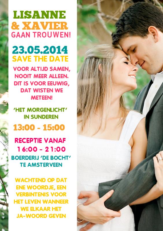 Trouwkaarten - bruiloft fotokaart 2