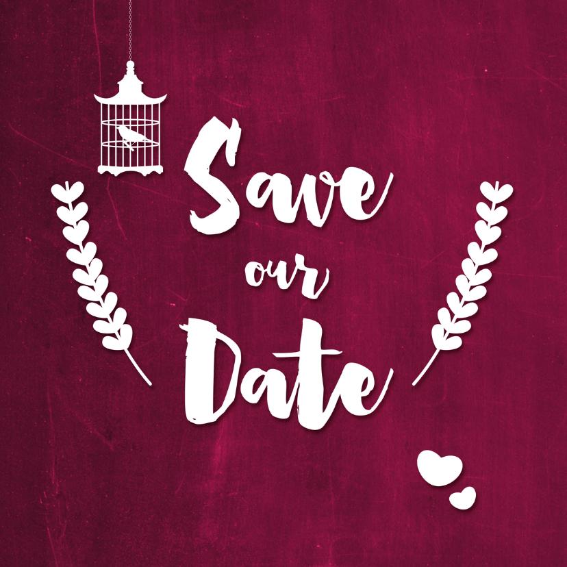 Trouwkaarten - CliniClowns Save our date - DH