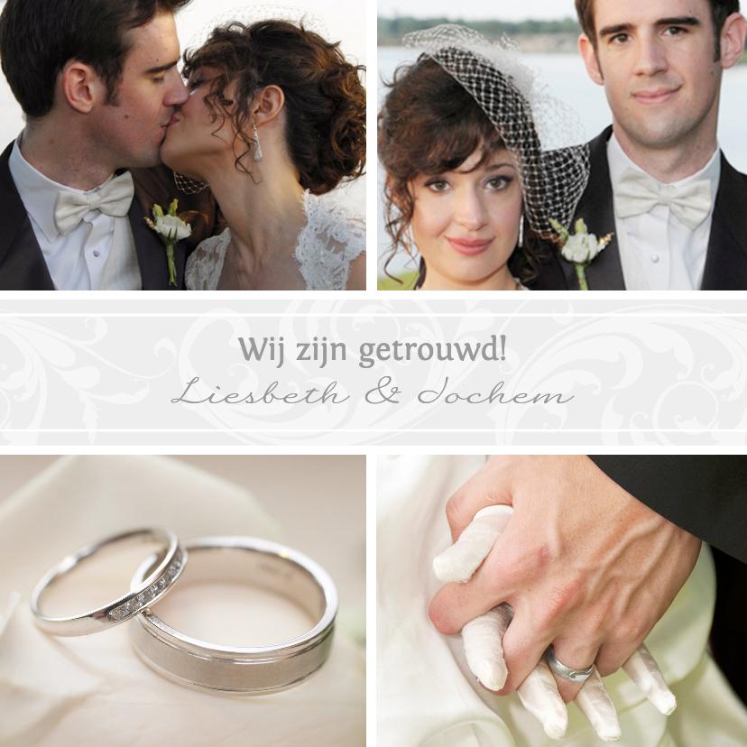 Trouwkaarten - Collage getrouwd! - BK