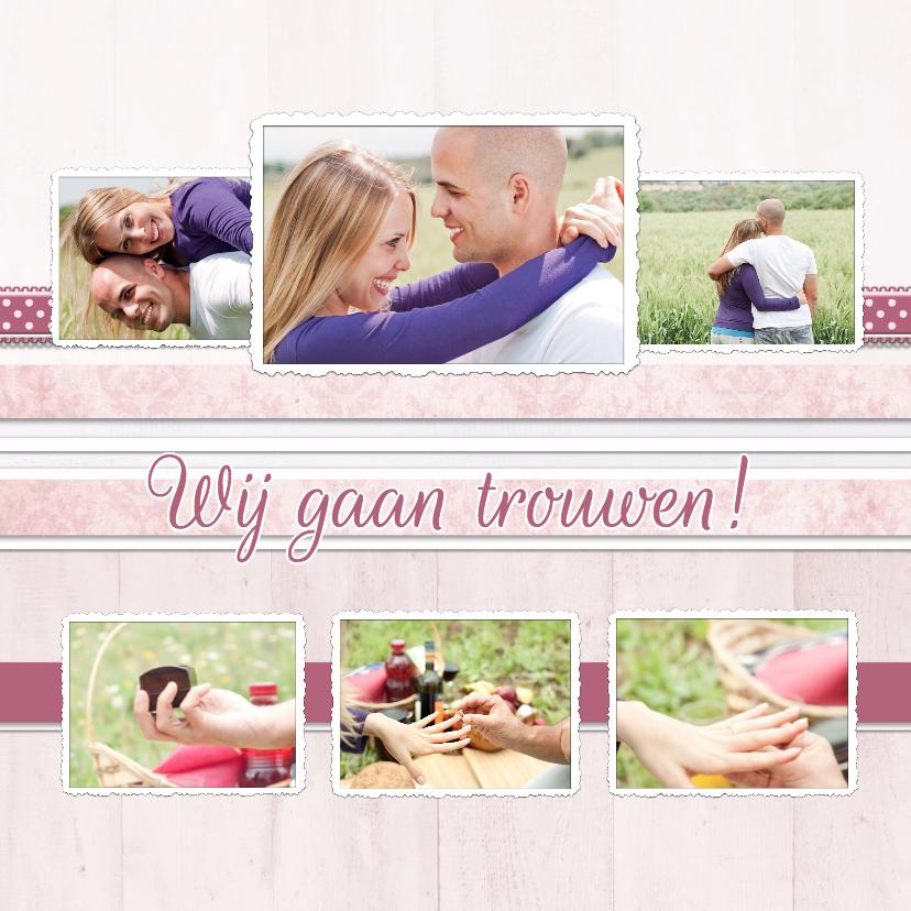 Trouwkaarten - Collagekaart Trouwen - BK