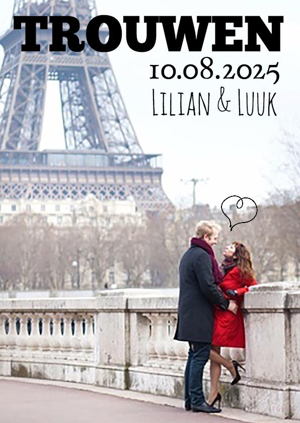 Trouwkaarten - Cover tijdschrift trouwen-isf