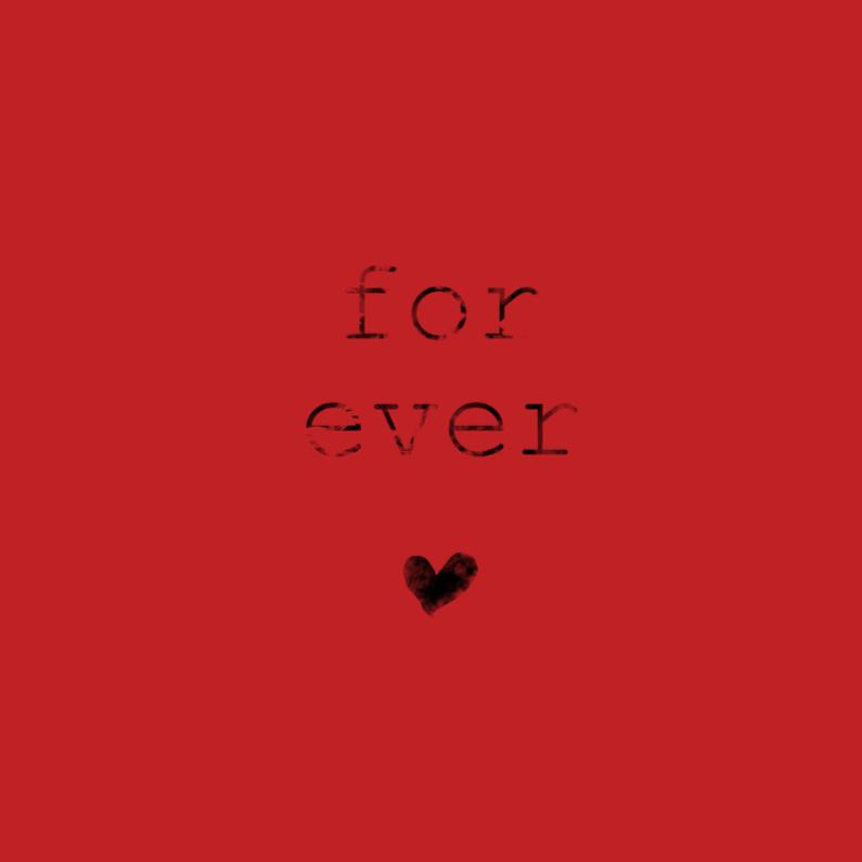 Trouwkaarten - For ever