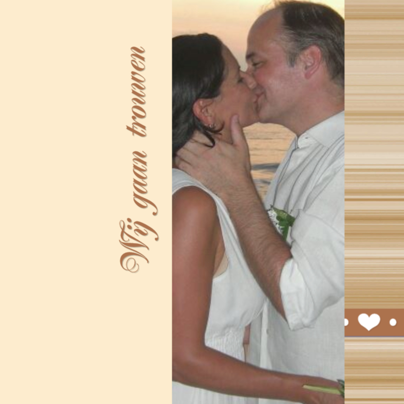 Trouwkaarten - huwelijk hartjes
