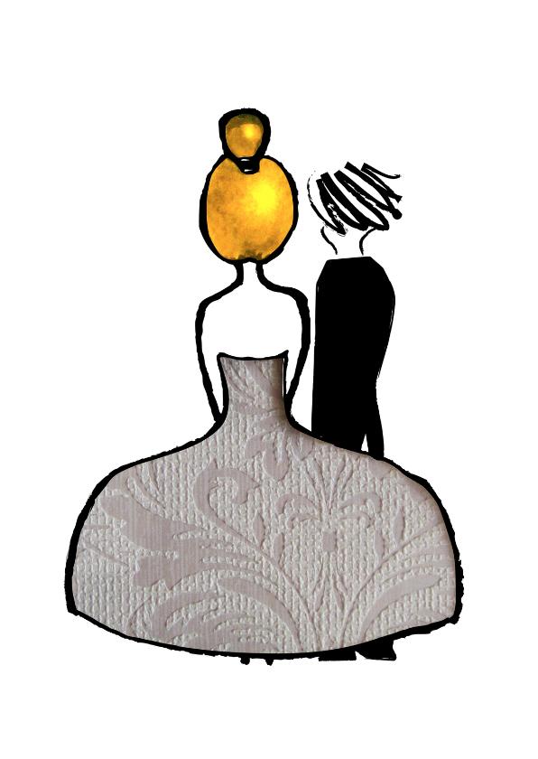 Trouwkaarten - Huwelijk illustratief