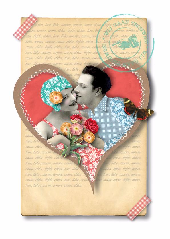 Trouwkaarten - Huwelijk - Vintage Marriage - MW