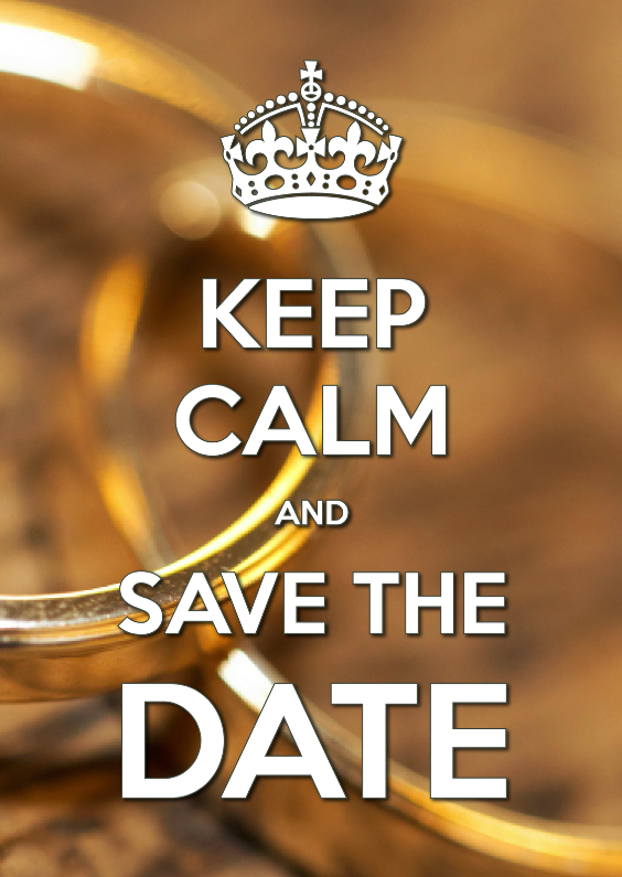 Trouwkaarten - Keep Calm and Save the Date 2