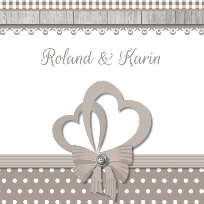Trouwkaarten - Klassieke huwelijkskaart 3