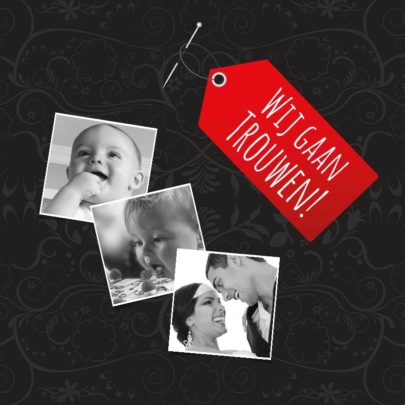 Trouwkaarten - Label en foto's-isf