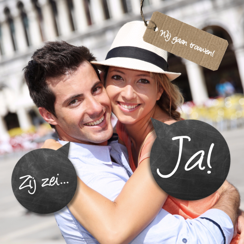 Trouwkaarten - Moderne trouwkaart foto