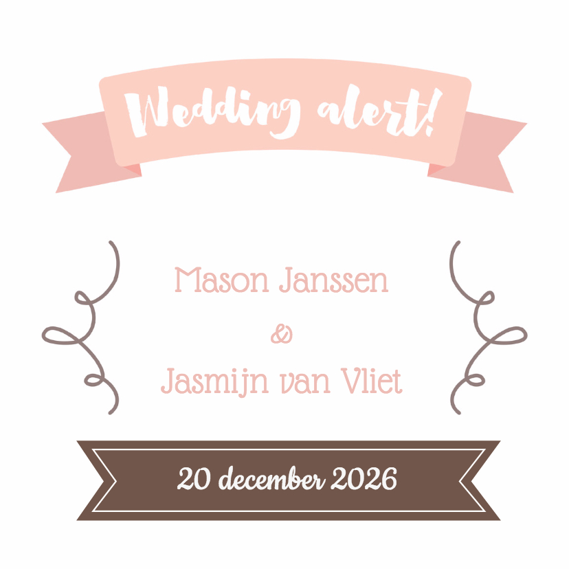 Trouwkaarten - Pastel save the date - DH