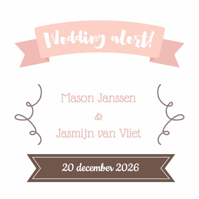 Trouwkaarten - Pastel save the date - DH