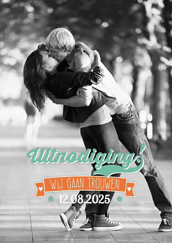 Trouwkaarten - Retro wij gaan trouwen-isf