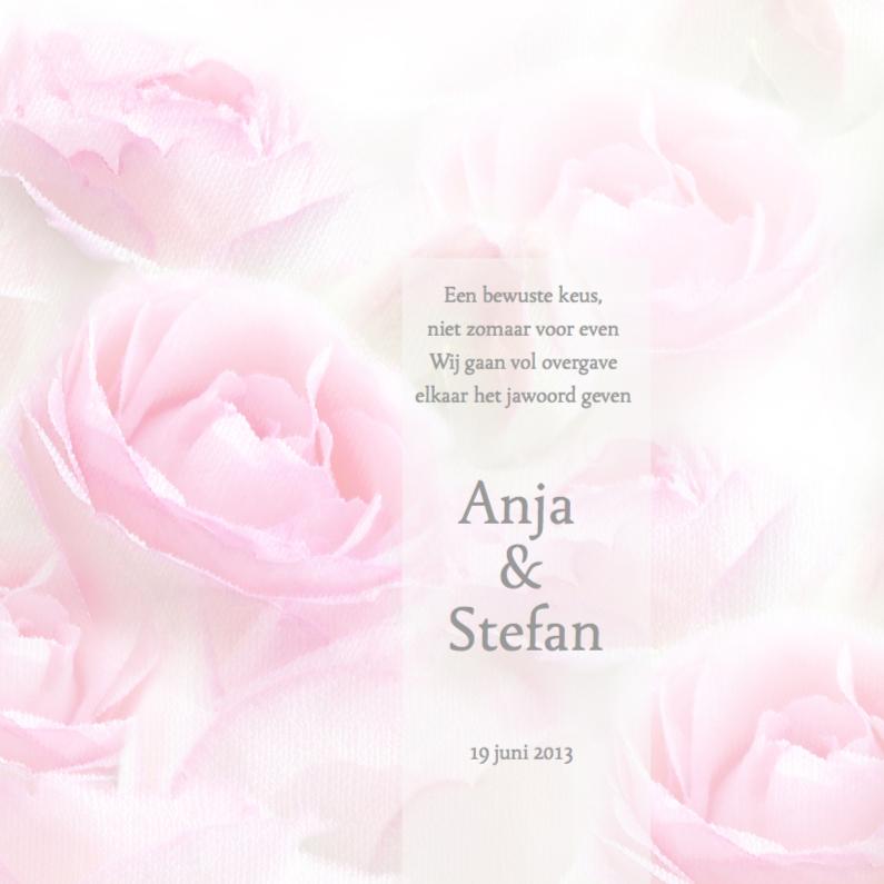 Trouwkaarten - Roze romantiek