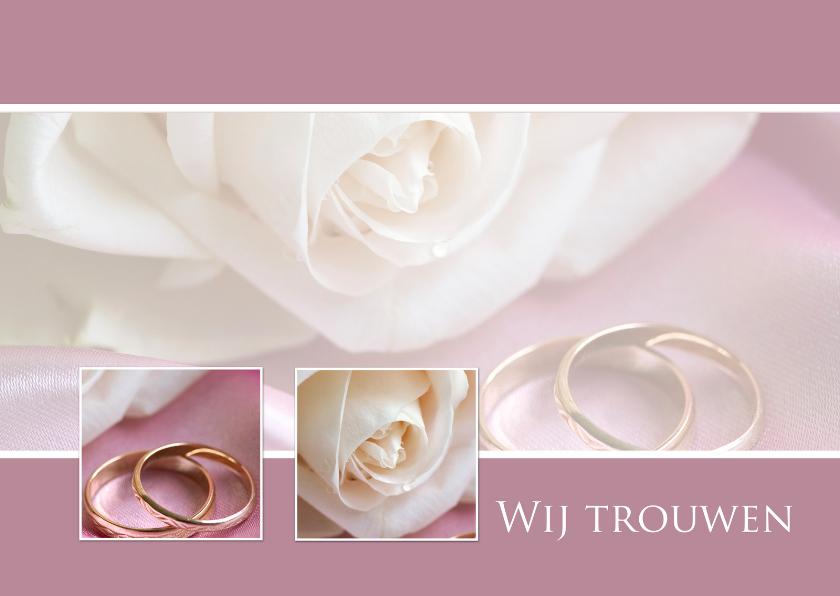 Trouwkaarten - Rozen huwelijkskaart