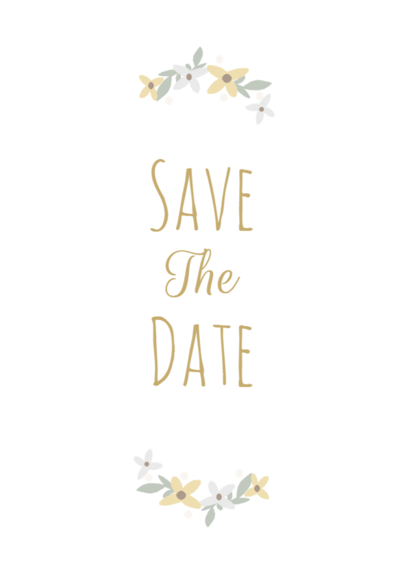 Trouwkaarten - Save the Date bloemen