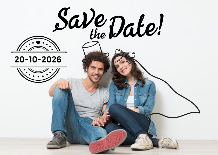 Trouwkaarten - Save the date Doodles - DH