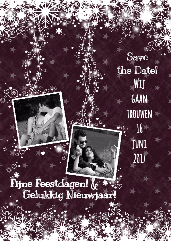 Trouwkaarten - Save the date en kerstwens