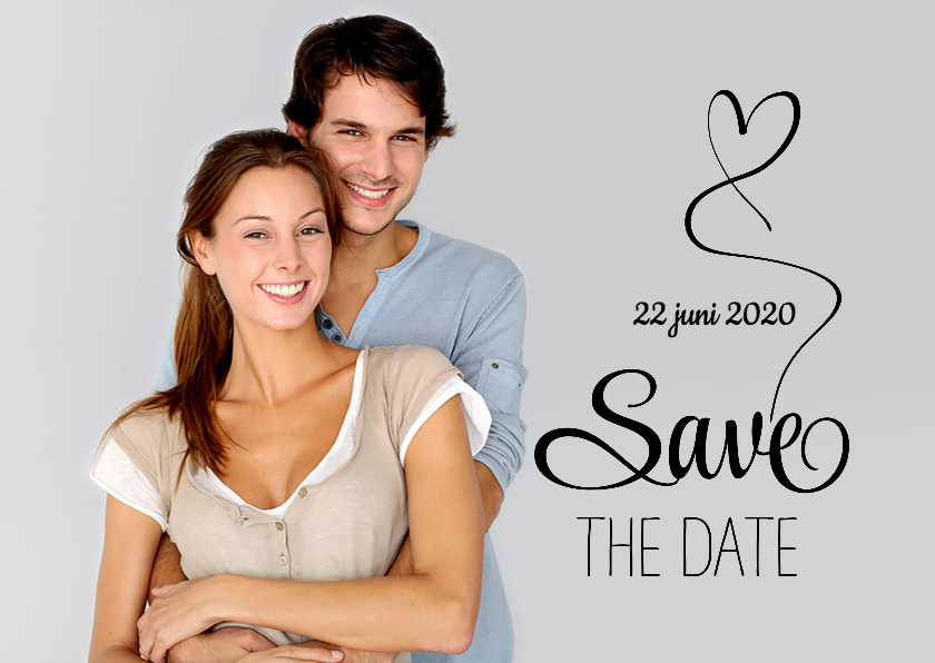 Save the Date foto tekst zw - SG 1