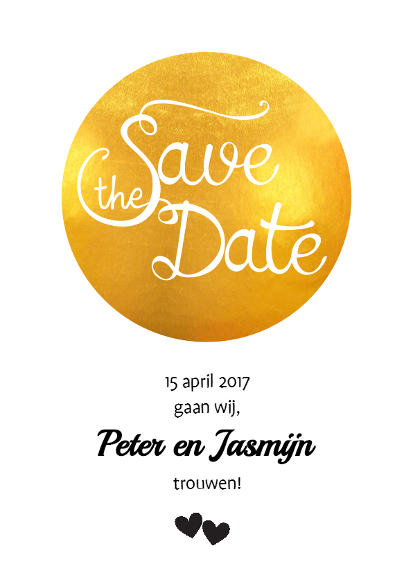 Trouwkaarten - Save the Date Golden Spot - SV