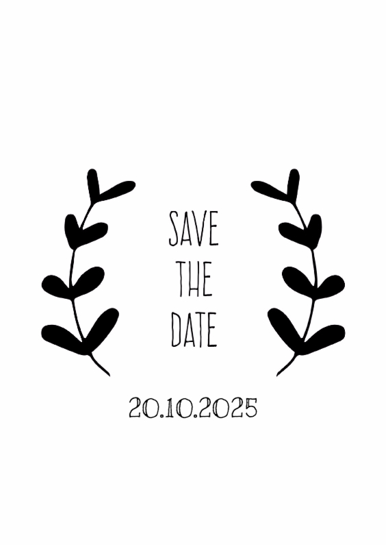 Trouwkaarten - Save the date handdrawn - DH