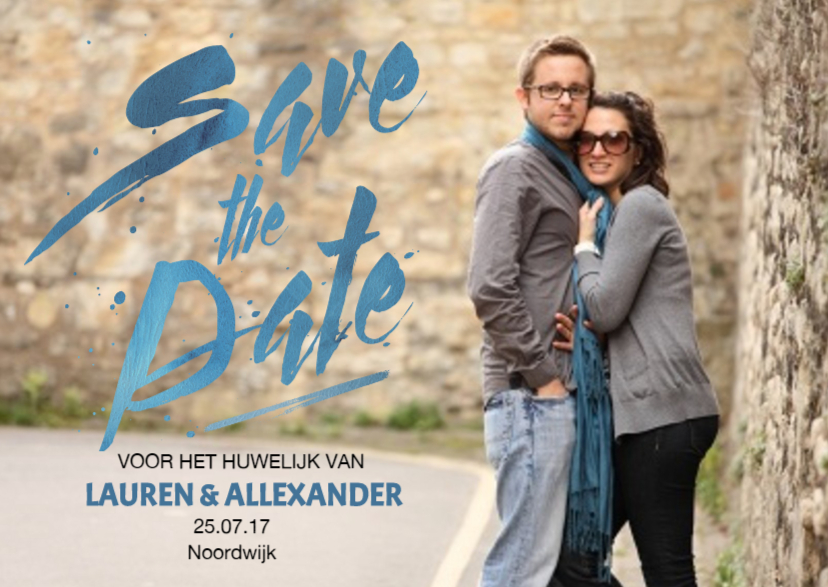 Trouwkaarten - Save the Date Handschrift Hip