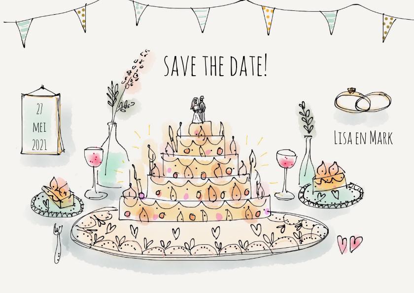 Trouwkaarten - Save the Date Illustratie