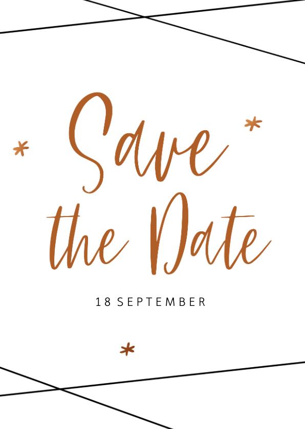 Trouwkaarten - Save the Date kaart  in geometrische stijl