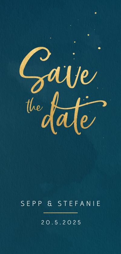 Trouwkaarten - Save the date kaart waterverf en spatten