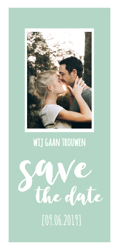 Trouwkaarten - Save the date - lang