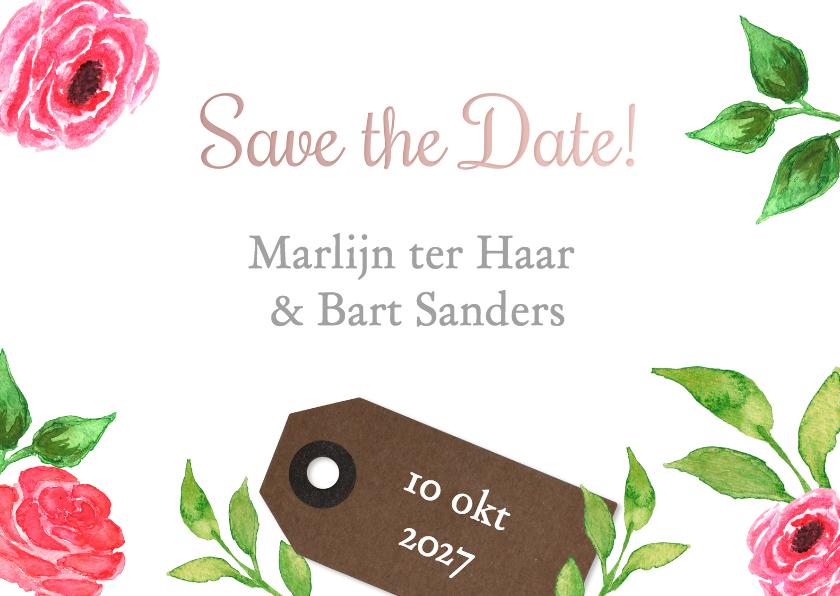 Trouwkaarten - Save the Date Marlijn Bart - DH